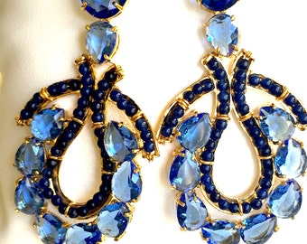 Sodalite blue earrings