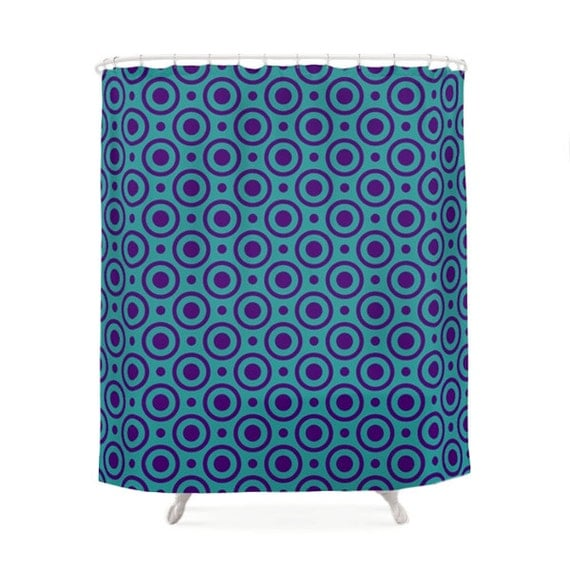 Funny Turquoise And Purple Shower Curtain 5 Pattern Options