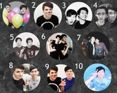 Dan and Phil Buttons