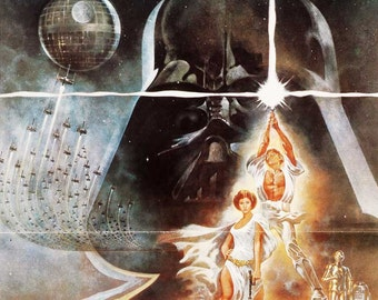 Vintage movie poster - Star Wars Movie, Made in Czechoslovakia, 1977