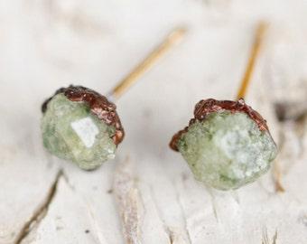 Tiny Studs Raw Stone Stud Earrings: tiny stud earrings, trending earrings simple stud earrings, minimal earrings minimalist jewelry, crystal