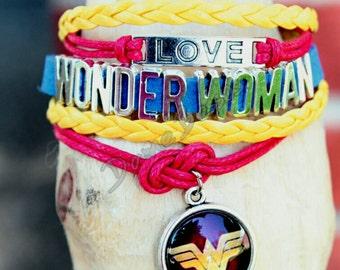 Infinity love Wonder Woman bracelet