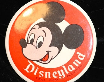 1960's Mickey Mouse Button