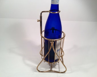 Vintage Brass Wine Decanting Cradle From Italy Circa 1930's
