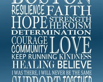 BOSTON RESILIENCE 11x14 Print