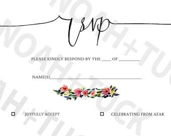 Floral RSVP card