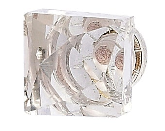 Clear Faceted Knob/Shabby Chic Knob/Dresser Knobs/Crystal Knob/Crystal Drawer Pull/Cottage Chic/Crystal Knob Pull Handle/Cottage Chic/165001