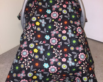 Baby Girl Car Seat Canopy - Personalization Available