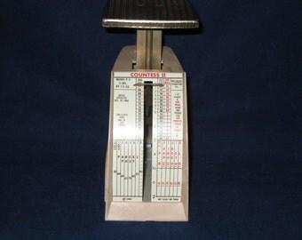 Vintage Pelouze Postal Scale/Countess II Mid Century Desk Top Scale/ 1968 Postal Scale