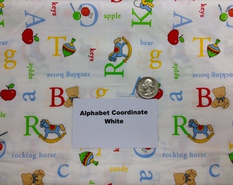 Alphabet Coordinating  Fabric - 1 and 1/2 Yards