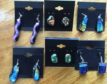 Dichroic earrings