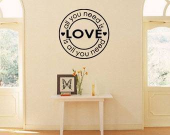 Circles with maxim decal, nice encouraging words decal