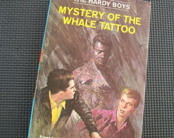 Vintage 1968 Edition The Hardy Boys - Mystery of the Whale Tattoo (Number 47)  by F.W.Dixon - Hard Cover