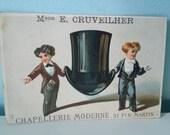 Antique French trading card advertisement advertising card Mson. E. Cruvelheir Paris