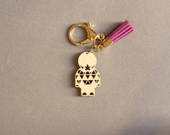 Little Paper Warrior Keychain