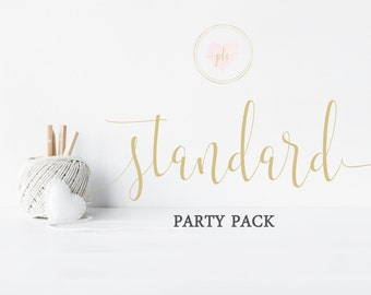Printable Party Package, Party Package, Printable Party, Birthday Party Pack, Baby Shower Party Pack, Party Printables, Standard Party Pack