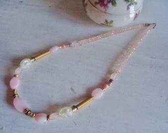 Vintage Crystal necklace  ,50's, retro necklace