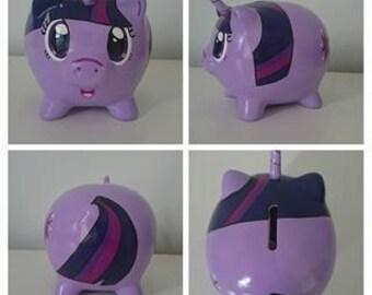 Hand painted Pony Unicorn piggy bank