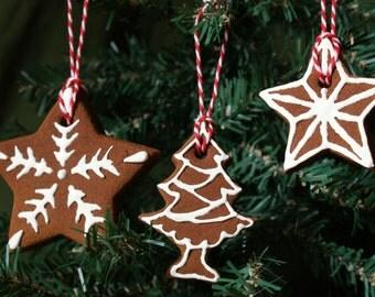 Cinnamon Ornaments - Fragrant Rustic Christmas Ornaments (Set of 3)