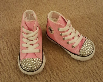 kids infants bling converse sneaker
