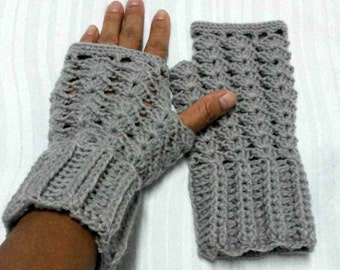 Crochet Fingerless Gloves, Mitten, Woman's Gloves and Wristwarmers