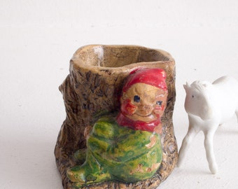 Vintage Totnes pixie candle holder / pot