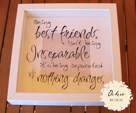 Friendship Quotes For Picture Frames : Best friend frame friends picture by