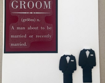Grooms Defined (Two Grooms, Gay Wedding Card)