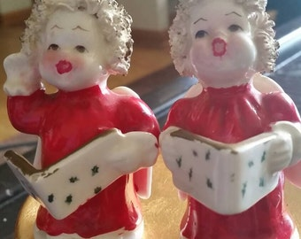 Vintage angel carolers, collectables, Christmas, figurines, knick knacks.