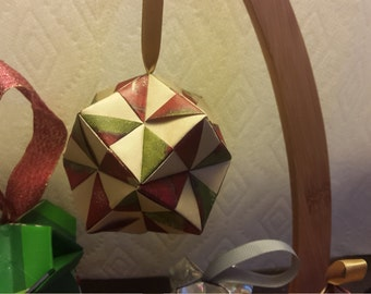your pick from assorted hand made origami Christmas ornaments