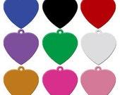 Aluminium Anodised Dog Id Tag - Love Heart