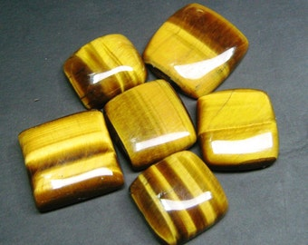 Tiger Eye Cabochons,Natural Tiger Eye Gemstone, Loose Gemstone, Size 14 x 16 to 19 x 20 mm , Top Quality Gemstone, Code 401