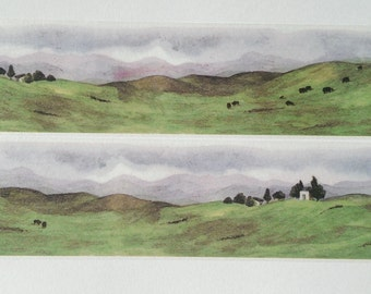 Design Washi tape landscape mirrored pasture