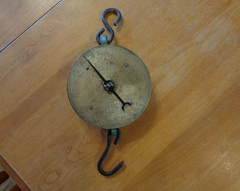 vintage Salter 30lb Brass Barn Scale made in England No. 235