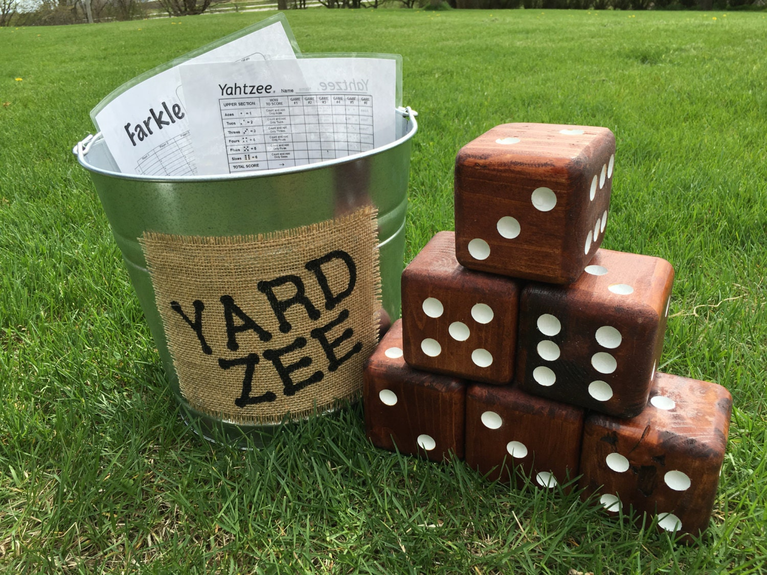 Yard Zee Giant Yard Dice Yahtzee Game Farkle Dice Game Six