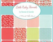 CLEARANCE Little Ruby Flannel Fat Quarter Bundle by Bonnie and Camille for Moda