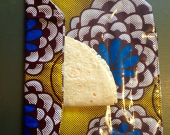 West African print picnic sandwich wrapper