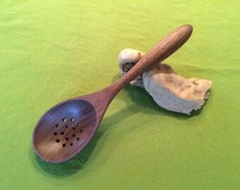 Walnut Colander Spoon