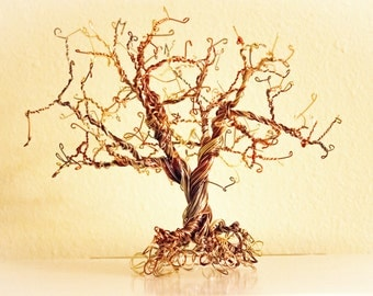 Handmade Wire Sculpture Tree