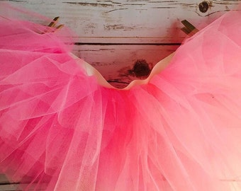 Tutu Skirt - Full skirt shown in Hot Pink! Available for baby, toddler, kids and adult size.