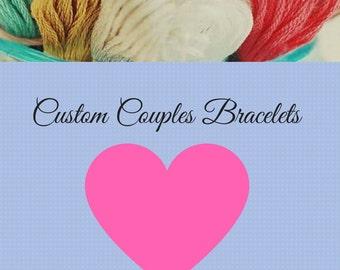 Custom Couples Name Bracelets / Custom Couples Friendship Bracelets / Customize Your Own Custom Couples Bracelets / Custom Bracelets /