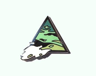 Bermuda Triangle Enamel Lapel Pin