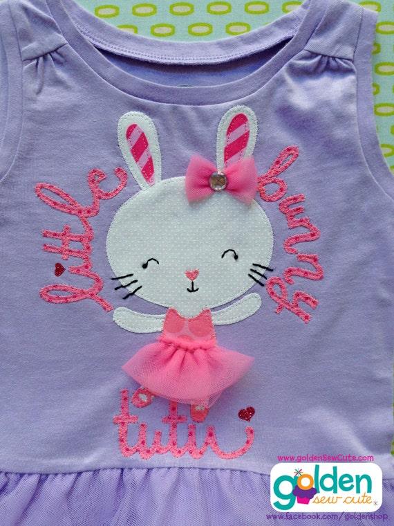 Easter Bunny Ballerina, Tutu Bunny, Girl Spring Tee