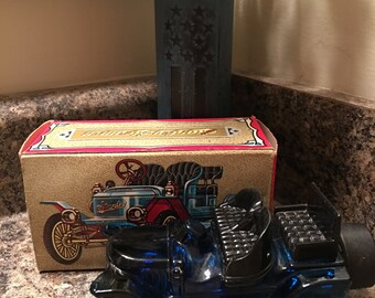 Vintage Avon Stanley Steamer Decanter, Wild Country After Shave, 1970s
