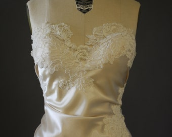 Bridal Bustier...Charmeuse & Lace