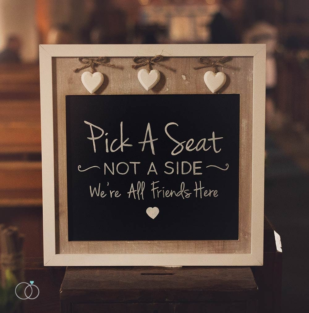 Chalkboard Wedding Sign Pick A Seat Sign
