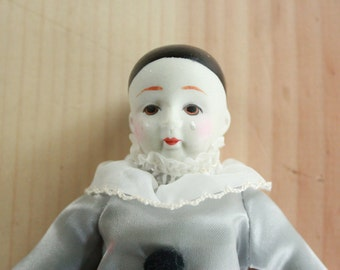 Porcelain Mime Doll or Pierrot Clown
