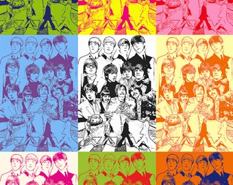 The Beatles Andy Warhol Style Poster