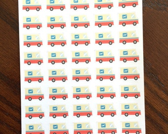 Mail Truck Planner Stickers