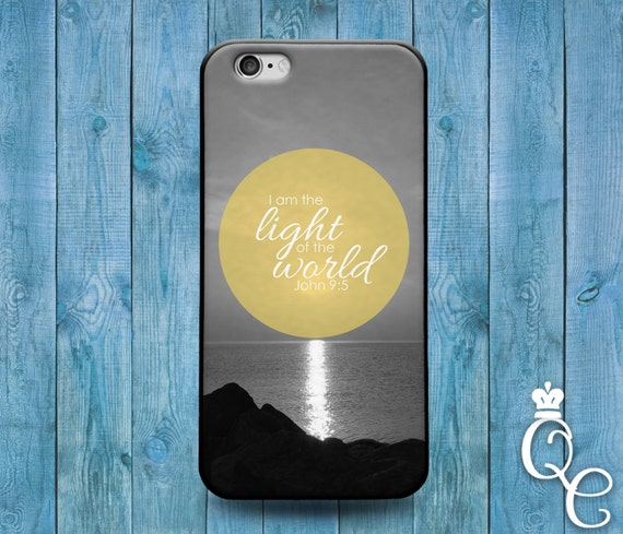 iPhone 4 4s 5 5s 5c SE 6 6s 7 plus iPod Touch 4th 5th 6th Generation Cute Bible Christian Quote I am the Light Jesus Phone Cover God Case